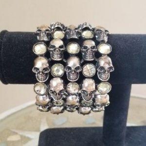 Jewelry - Skull Head Cuff Bracelet / Arm Jewelry Silver